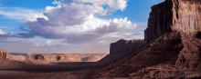 Sunset Monument Valley After Sandstorm